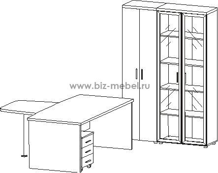 Картинки по запросу набор мебели для руководителя Цезарь 5 предметов